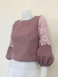 Clothes vintage style blouses 52 New ideas Sleeves Designs For Dresses, Dresses With Sleeves, Sleeve Designs, Blouse Styles, Blouse Designs, Hijab Fashion, Fashion Dresses, Myanmar Dress Design, Mode Abaya