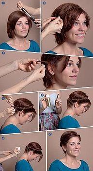 Updo for short hair