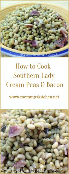 Lady Cream Peas Recipe, Peas And Bacon Recipe, Pea Recipes, Bacon Recipes, Simple Recipes, Veggie Dishes, Side Dishes, Fruits And Veggies, Vegetables