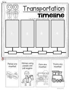 Timeline Worksheet for Kids - Free to Print | Primary ...