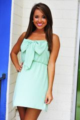 Bow For The Princess Dress: Mint