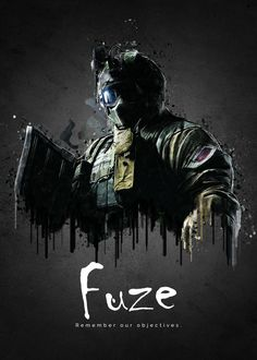 """Rainbow Six Siege Characters Fuze #Displate artwork by artist """"TraXim"""". Part of a 33-piece set featuring artwork based on characters from the popular Rainbow Six video game. £37 / $49 per poster (Regular size), £74 / $98 per poster (Large size) #RainbowSix #RainbowSixSiege #TomClancy #TomClancysRainbowSix #Rainbow6 #Rainbow6Siege #TomClancysRainbow6 #Ubisoft"""