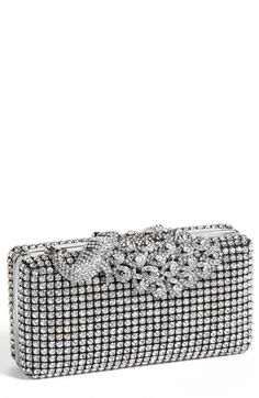 Natasha Couture Peacock Top Crystal Clutch | Nordstrom