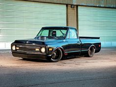 Trent Summers and Jason Brady took this 1970 Chevy C10 and modified and customized it into an autocross truck.