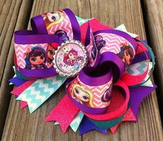 Little Charmers Layered Hair Bow by MiaBellaCrafting on Etsy