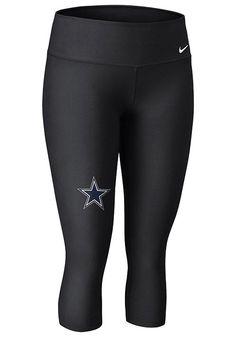 Dallas Cowboys Womens Performance Pants - Black Cowboys Dri-Fit Capri Athletic Pants http://www.rallyhouse.com/nfl/nfc/dallas-cowboys/a/womens/b/legwear?utm_source=pinterest&utm_medium=social&utm_campaign=Pinterest-DallasCowboys $65.00