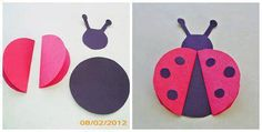 Ladybug with circles Animal Crafts For Kids, Paper Crafts For Kids, Craft Stick Crafts, Fun Crafts, Art For Kids, Arts And Crafts, Ladybug Crafts, Ladybug Party, Origami