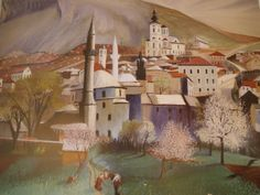 Csontváry Post Impressionism, Art School, Paths, Houses, Paintings, Artists, Landscape, Canvas, Homes
