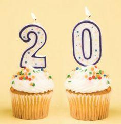happy birthday cake 20 year