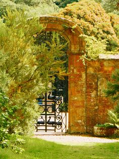 The gate to Tir na nOg, the burial place of the Londonderry family at Mount Stewart, a National Trust property outside Newtownards, Co Down Irish Mythology, Londonderry, National Trust, Northern Ireland, Windows And Doors, Gates, Beautiful Homes, Europe, Outdoor Structures