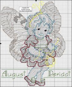 Toddler Birthstone Fairy August Peridot Cross Stitch Pattern 2/5