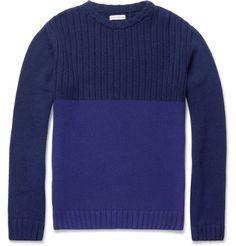 Oliver SpencerRibbed Crew Neck Sweater.