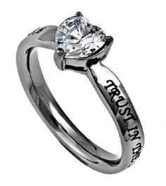Trust-Womens-High-Polished-Stainless-Steel-CZ-Heart-Ring