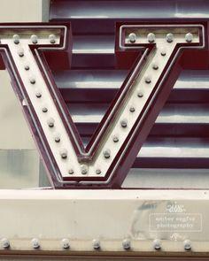 Letter V light