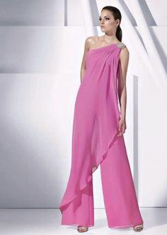 Vestido longo de festa rosado lavanda. Pronovias.