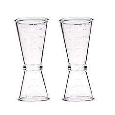 Kloud City  Pack of 2 Cocktail Wine Jigger Double Clear Plastic Shot Glasses Drink Spirit Measure Cup For Bar Party Kitchen Tool *** Continue to the product at the image link.Note:It is affiliate link to Amazon.