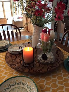 When your lantern is full of flowers, use the lantern insert as your candle holder. ‪#‎maryandmartha‬ http://www.mymaryandmartha.com/csumrell https://www.facebook.com/Mary-and-Martha-Carol-Sumrell-Independent-Consultant-959930747435216/?ref=bookmarks