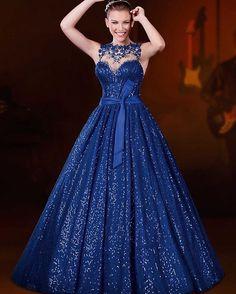 Vestido azul cenicienta