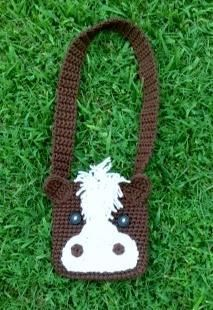 equestrian crochet patterns | ... 99 instant download Crochet Kids Horse Bag - Pattern on ... | Cra