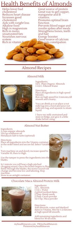 Health benefits of almonds and three great almond recipes #plantbased #almonds