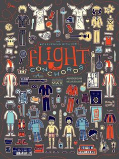 Flight of the Conchords by Kevin Tong Illustration, via Flickr