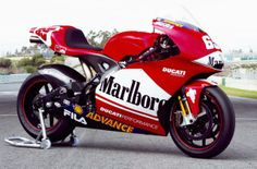 The original Desmosidici from 2003. Loris Capirrrrrossssii's bike. Podium first off, win after 3, 2nd in the manufacturers championship. Capirossi 4th, Bayliss 6th.