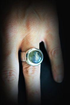 labradorite silver ring/ gemstone jewelry/ by JewelryByFlorita