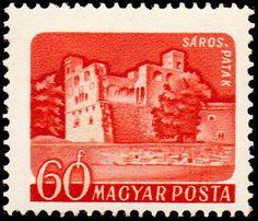 Sello: Sárospatak (Hungría) (Castles (1960-64)) Mi:HU 1653A,Sn:HU 1285,Yt:HU 1338 Castle, Stamps, Movie Posters, Places, Decor, Art, Castles, Objects, Seals