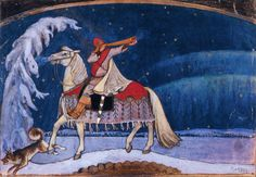 The Athenaeum - Kullervo Rides to War (Akseli Gallen-Kallela - ) Tolkien, Borealis Lights, Roman, Chur, Post Impressionism, Design Graphique, Fantasy Illustration, Colorful Paintings, Illustrations