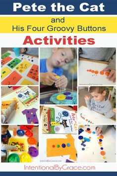 Pete the Cat and His Four Groovy Buttons activities. Basic math like sorting, counting and more!