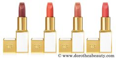 Tom Ford Soleil Collection Summer 2016: Tom Ford Lip Color sheer in Sweet Spot, Paradiso, Rose Soleil and Skinny Dip
