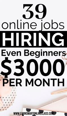 Latest Work At Home Job LeadsSearching for online jobs to help you earn money from home this year? Here's a list of work from home jobs perfect for everyone, including beginne. Ways To Earn Money, Earn Money From Home, Way To Make Money, Money Fast, Money Today, Big Money, Free Money, Online Business From Home, Online Jobs From Home