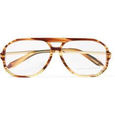 Victoria BeckhamAviator-style Acetate And Gold-tone Optical Glasses (€250) ❤ liked on Polyvore featuring accessories, eyewear, eyeglasses, tortoiseshell, victoria beckham, tortoise aviators, lens glasses, tortoise shell aviators and victoria beckham eyeglasses