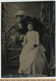 Mamie Lincoln and an unidentified woman both wearing full length dresses. One is checkered with bodice detail, and the other is white, with details showing on the underskirt. Abraham Lincoln Family, Lincoln Assassination, Lincoln Financial, Mr President, Greatest Presidents, Old Photographs, American History, Famous People, Vintage Ladies