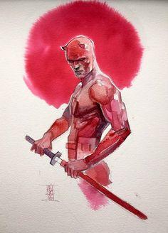 Daredevil Sketch artist by Alex Maleev