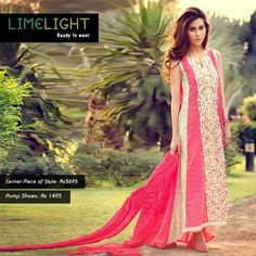Limelight is a brand offering ready to wear shirts and clothes. Limelight party wear dresses 2013 for eid were released recently. Pakistani Couture, Pakistani Outfits, Pakistani Clothing, Simple Dresses, Casual Dresses, Formal Dresses, Party Wear Dresses, Dresses 2013, Desi Clothes
