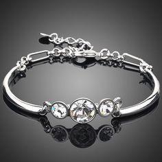 Triple Stone Crystal Bracelet