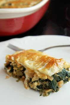 Greek Spinach Pie with Brussels Sprouts and Four Cheeses