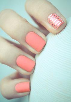 matte peach polish