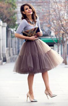 tule+skirt+++high+heels+combinations #omgoutfitideas #style #styleoftheday