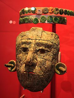 Mayan death mask, Palenque, Mexico