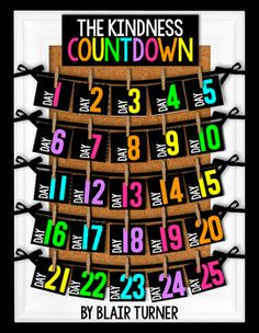 """Encourage your students to engage in random acts of kindness throughout the year! The """"Classroom Kindness Challenge"""" is perfect for kids of all ages and will really help students focus on what is important. A great way to build character and classroom community!This product is a non-seasonal version of my Christmas Kindness Countdown."""