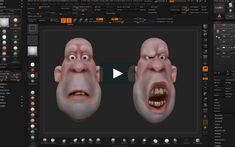 This is a little test of using layers in ZBrush to create facial shapes for 3DPrinting. The model was made as an asset for my new course Clay-2-Digital designed…