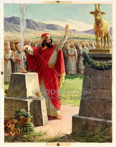 Revolt of Jeroboam 1 Kings 12 Religious Pictures, Bible Pictures, Bible Crafts, Bible Art, Golden Calf, Kings Of Israel, Jesus Painting, Bible Illustrations, Christian Pictures
