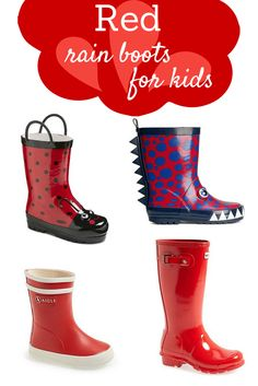 Red rain boots for kids - Savvy Sassy Moms