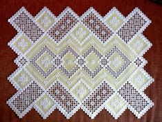 Doily.   Hardanger Embroidery  