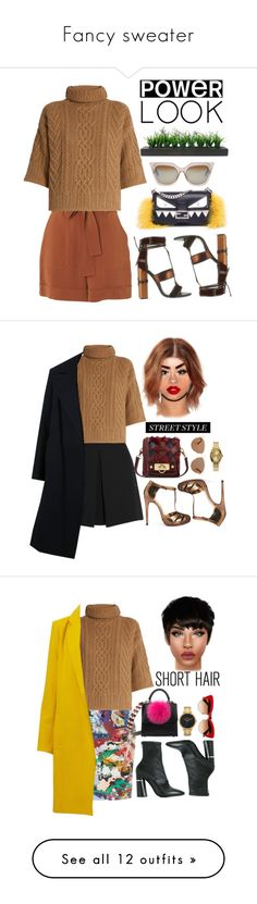 """""""Fancy sweater"""" by fashion-is-my-passion-14 ❤ liked on Polyvore featuring Fendi, Whistles, MaxMara, Tom Ford, Vintage, McQ by Alexander McQueen, ASOS, Anna Sui, Christian Dior and Yohji Yamamoto"""