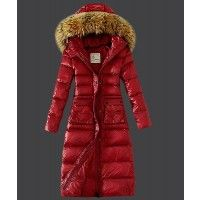 Moncler Featured Slim Windproof Coat Women Down Red