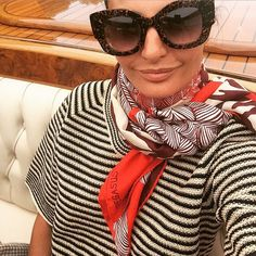"reblog Fendi Huang: ""Giovanna Battaglia gets behind the #FendiandThierryLasry sunglasses during a fabulous trip to #Venice. #Regram from @bat_gio"" instagram.com/..."