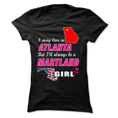 Always Be A MARYLAND Girl Tee! T Shirts, Hoodies. Check price ==► https://www.sunfrog.com//Always-Be-A-MARYLAND-Girl-Tee-ladies.html?41382 $19